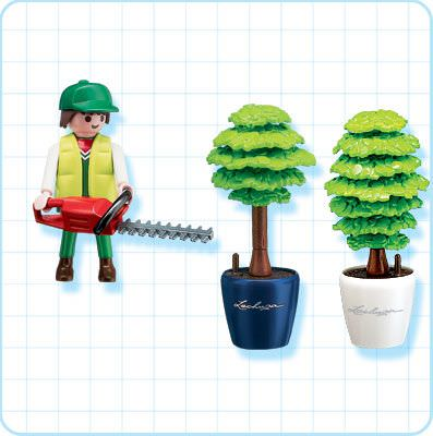 Playmobil 4485 - Gardener with Hedge Trimmer - Back