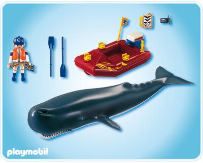 Playmobil 4489 - Research Boat with Sperm Whale - Back