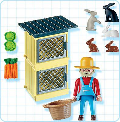 Playmobil 4491 - Rabbit Pen - Back