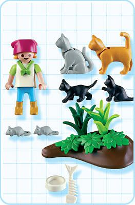 Playmobil 4493 - Girl with Cats - Back