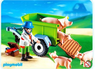 Playmobil - 4495 - Veterinarian with Pigs