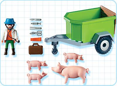 Playmobil 4495 - Veterinarian with Pigs - Back