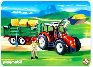 Playmobil - 4496-ger - Tractor with Hay Trailer