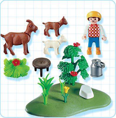 Playmobil 4499 - Goat Pasture - Back