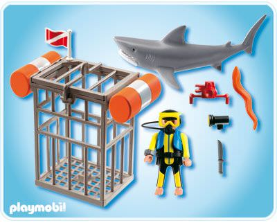 Playmobil 4500 - Shark Diver - Back