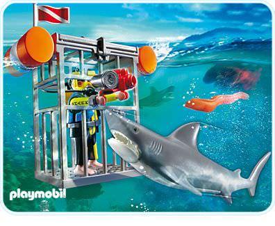 Playmobil set 4500 shark diver klickypedia for Playmobil la piscine