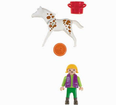 Playmobil 4571 - Child & Foal - Back
