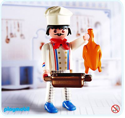 Playmobil set 4593 chef klickypedia for Cuisine playmobil