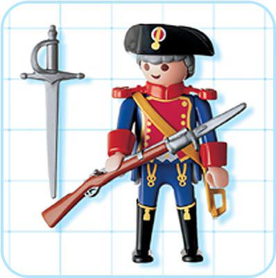 Playmobil 4611 - blue coat guard - Back