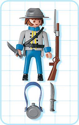 Playmobil 4622 - Confederate Soldier - Back