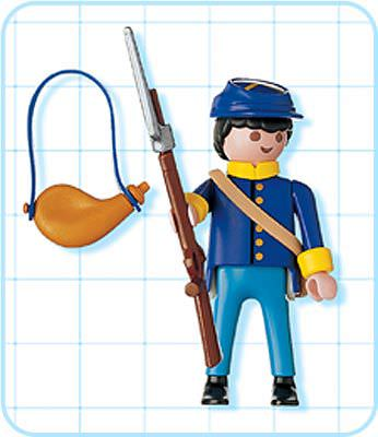 Playmobil 4628 - Northern Soldier - Back