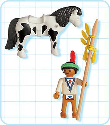 Playmobil 4629 - Indian Child with Pony - Back