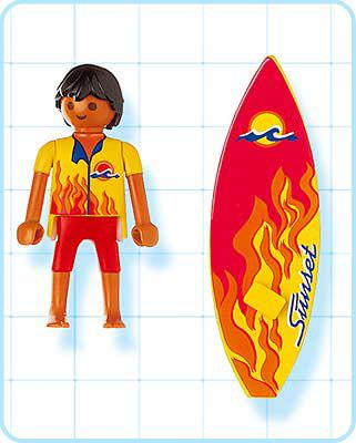 Playmobil 4637 - Surfer - Back