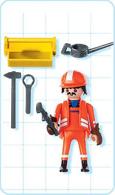 Playmobil 4640 - Train Worker - Back