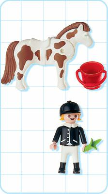 Playmobil 4641 - Equestrian Woman - Back