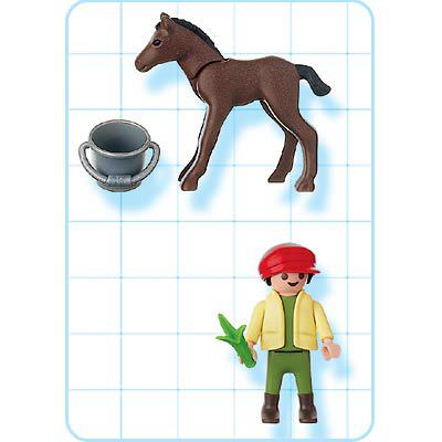 Playmobil 4647 - Child with Foal - Back
