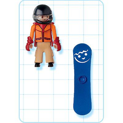 Playmobil 4648 - Snowboarder - Back