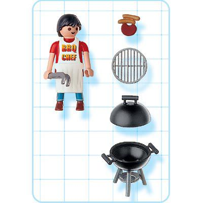 Playmobil 4649 - Dad with Barbeque - Back