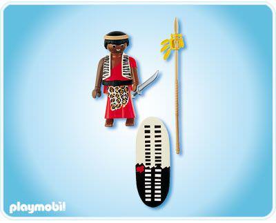 Playmobil 4685 - Zulu Warrior - Back