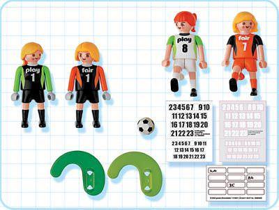 Playmobil 4703 - Girls` Teams - Back