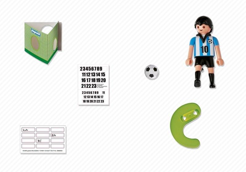 Playmobil 4705 - Soccer Player - Argentina - Back