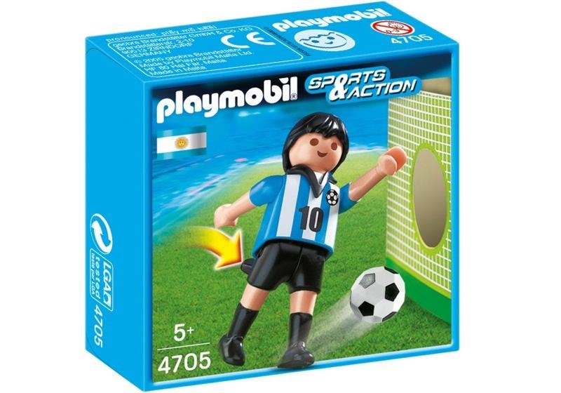 Playmobil 4705 - Soccer Player - Argentina - Box