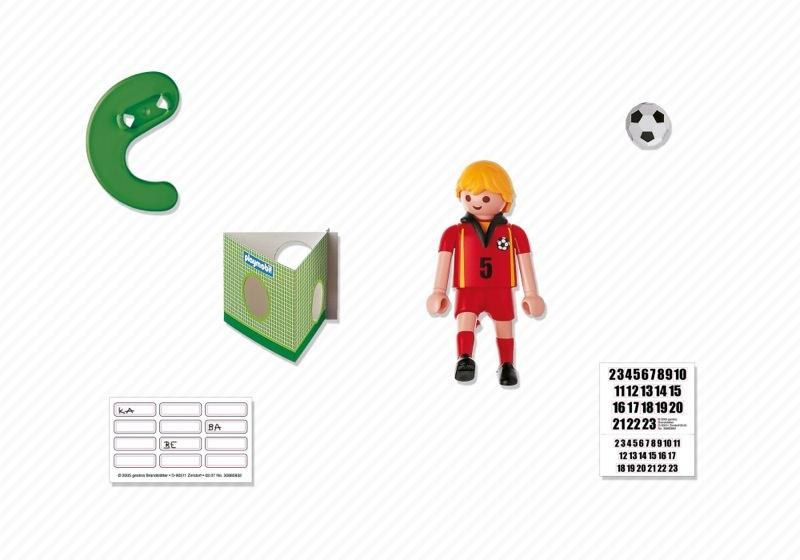 Playmobil 4706 - Soccer Player - Belgium - Back