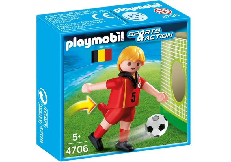 Playmobil 4706 - Soccer Player - Belgium - Box