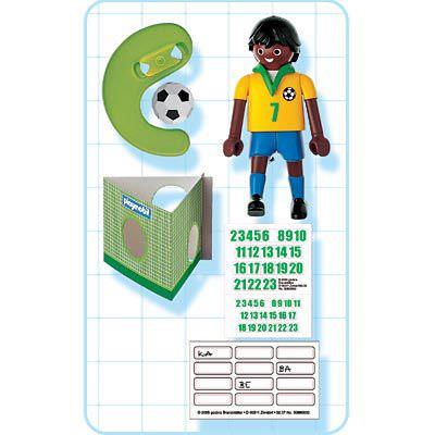 Playmobil 4707 - Soccer Player - Brazil - Back