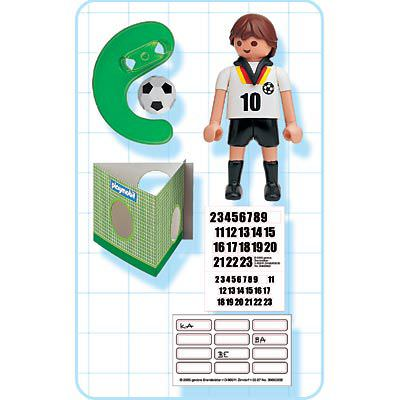 Playmobil 4708 - Soccer Player - Germany - Back