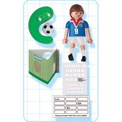 Playmobil 4710 - Soccer Player - France - Back