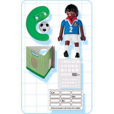 Playmobil 4711 - Soccer Player - France - Back