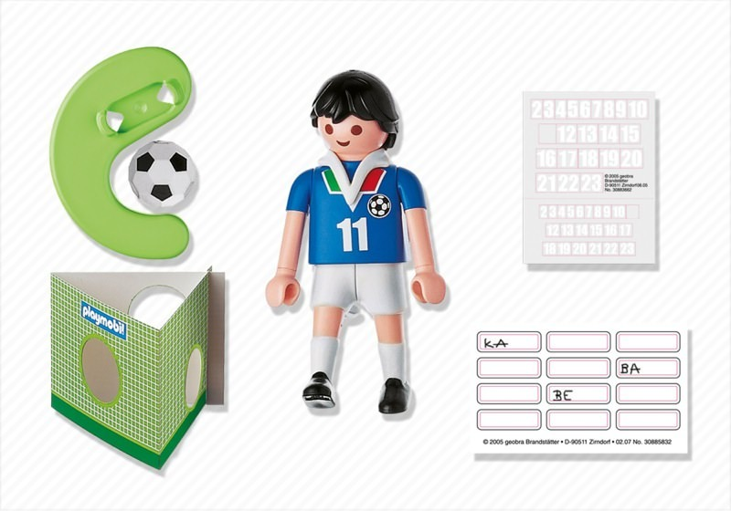 Playmobil 4712 - Soccer Player - Italy - Back