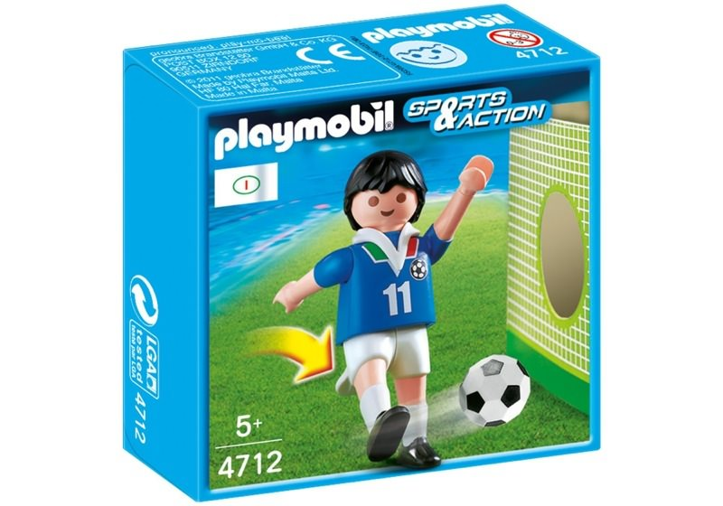 Playmobil 4712 - Soccer Player - Italy - Box