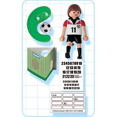 Playmobil 4714 - Soccer Player - Austria - Back