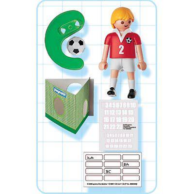 Playmobil 4715 - Soccer Player - Switzerland - Back
