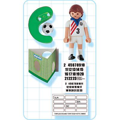 Playmobil 4716 - Soccer Player - USA - Back