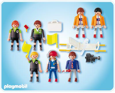 Playmobil 4717 - Football Referee and Linesmen - Back