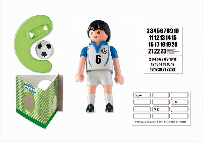 Playmobil 4718 - Soccer Player - Greece - Back