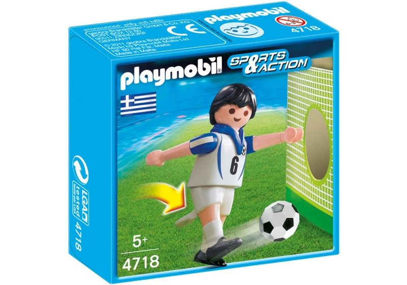 Playmobil 4718 - Soccer Player - Greece - Box