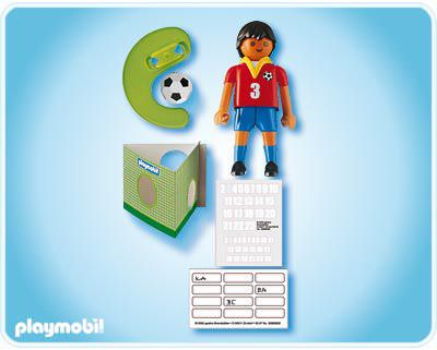Playmobil 4721 - Football player Spain - Back