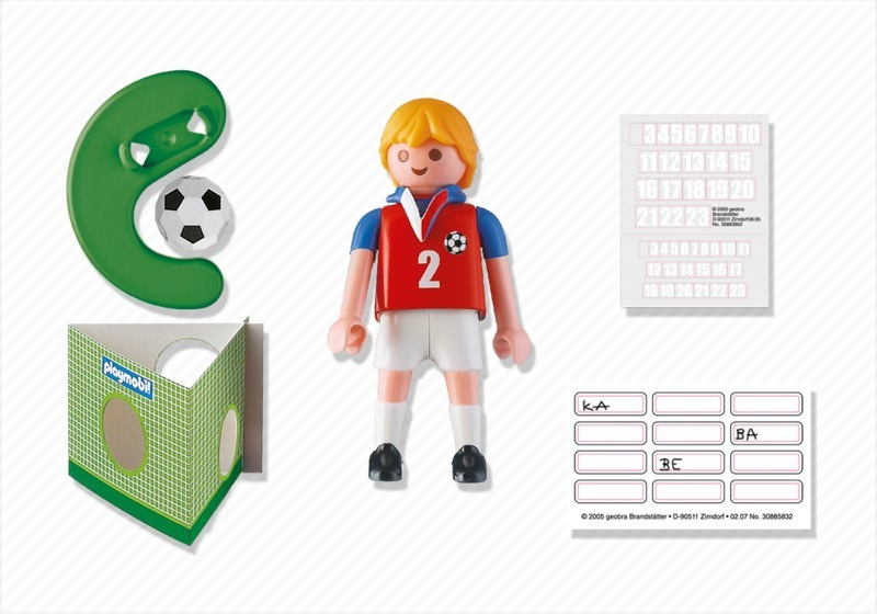 Playmobil 4722 - Soccer Player - Czech Republic - Back