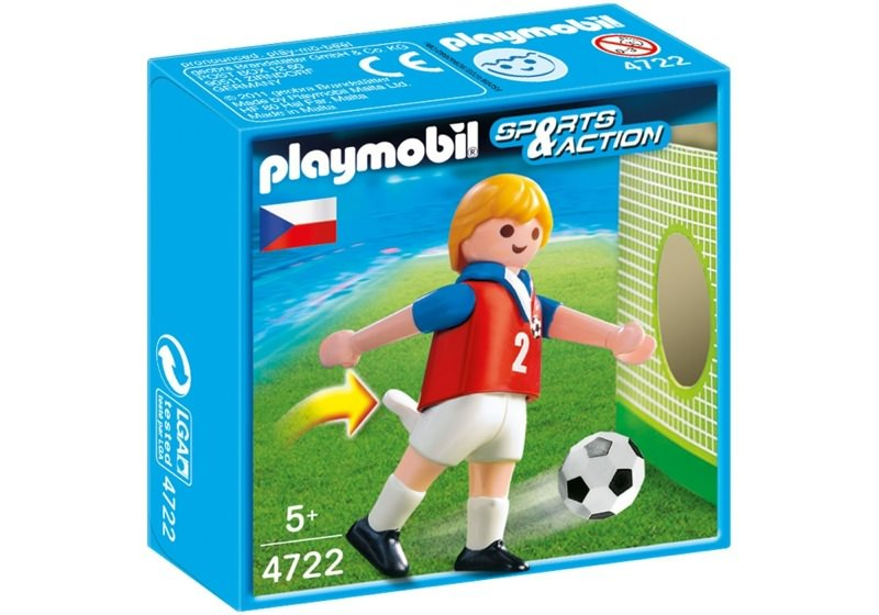 Playmobil 4722 - Soccer Player - Czech Republic - Box