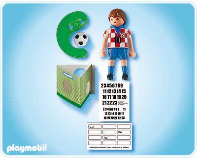 Playmobil 4723 - Soccer Player - Croatia - Back