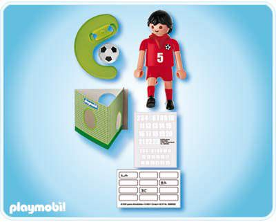 Playmobil 4724 - Soccer Player - Turkey - Back