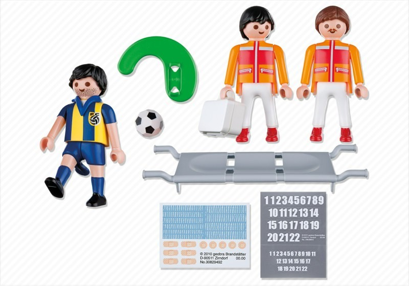 Playmobil 4727 - Field Medics with Soccer Player - Back