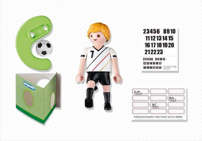 Playmobil 4729 - Soccer Player - Germany - Back