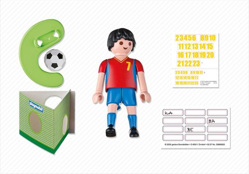 Playmobil 4730 - Soccer Player - Spain - Back