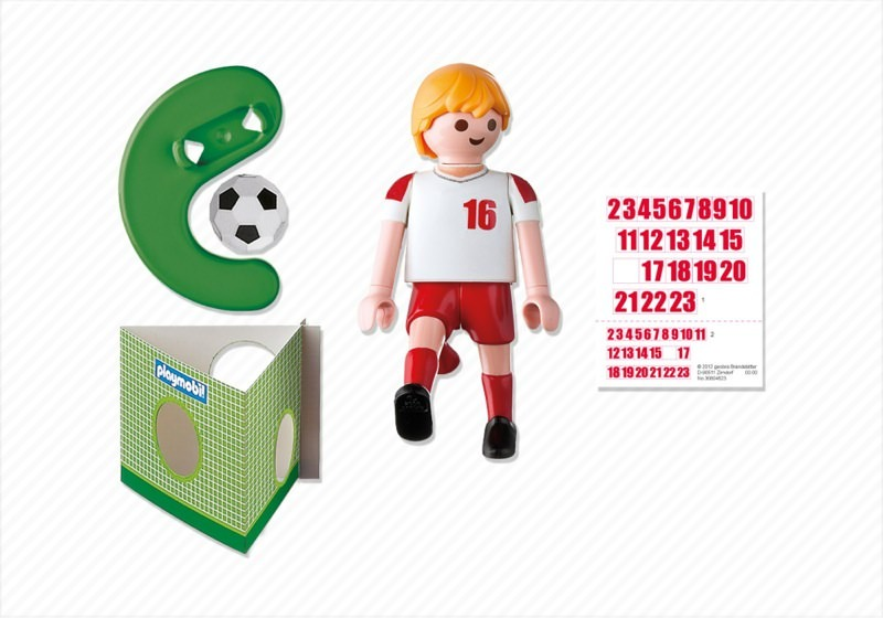 Playmobil 4731 - Soccer Player - Poland - Back