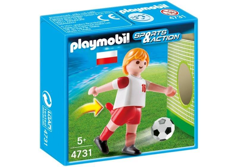 Playmobil 4731 - Jugador de Fútbol - Polonia - Caja